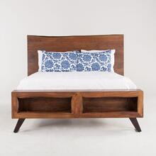 London Loft Bed Queen Walnut