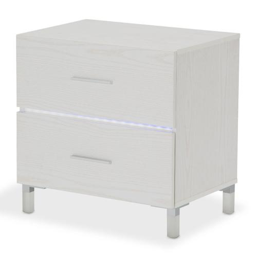 Amini - Accent Cabinet-night Stand-end Table W/led Lighting