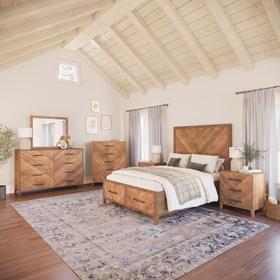 See Details - Eloquence 3 Piece King Panel Bedroom Set: Bed, Dresser, Mirror