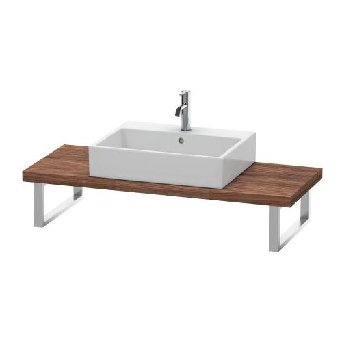 Duravit - Console For Above-counter Basin And Vanity Basin Compact, Walnut Dark (decor)