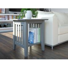 See Details - Mission End Table Atlantic Grey