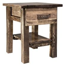 Homestead Collection Nightstand with Drawer, Stain and Lacquer Finish