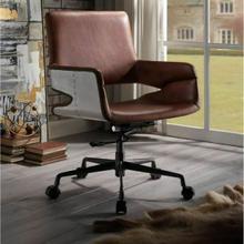 ACME Kamau Office Chair - 92567 - Vintage Cocoa Top Grain Leather
