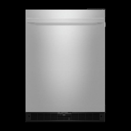 "NOIR™ 24"" Under Counter Solid Door Refrigerator, Right Swing"