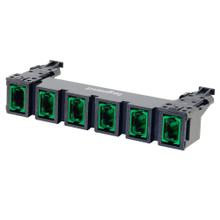 See Details - HDJ Series 6 MPO to MPO Fiber Adapter Panel, up to 144-Fiber OS2 - Green