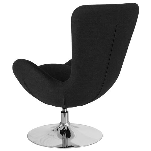 Black Fabric Side Reception Chair