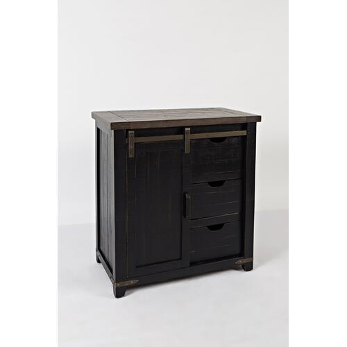 "1702-32 Accent Cabinet Barn Door 32"" in Vintage Black"