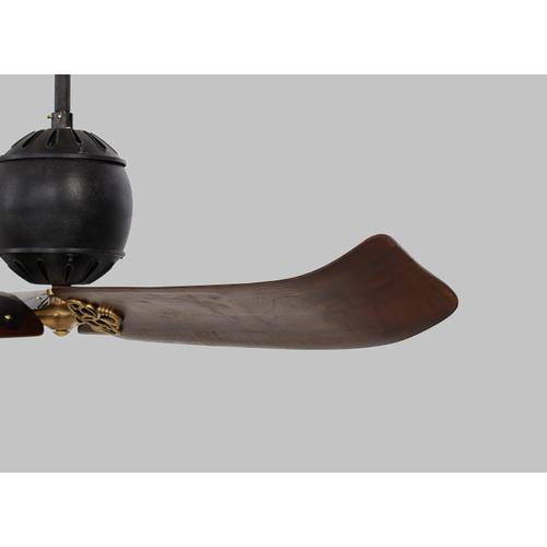 """60"""" Giarre - Antique Iron with Hand-Rubbed Antique Brass"""