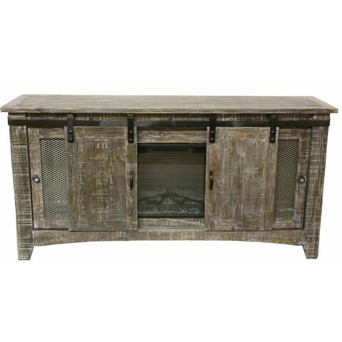 "Million Dollar Rustic - 70"" Barnwood Barn Door Tv/fireplace"