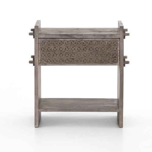 Aged Grey Finish Columbus Nightstand