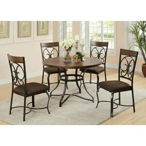 Acme Furniture Inc - ACME Jassi Dining Table - 71120 - Dark Cherry & Antique Black