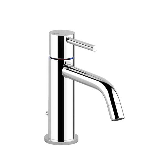 """Gessi - Single lever washbasin mixer with pop-up assembly Spout projection 5"""" Height 2-9/16"""" 1-1/4"""" D"""