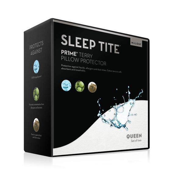 Pr1me Terry Pillow Protector Queen Pillow Protector