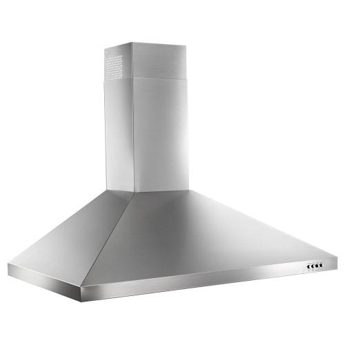 """Whirlpool - 36"""" Contemporary Stainless Steel Wall Mount Range Hood"""