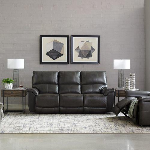 Norris Power Reclining Sofa w/ Headrest