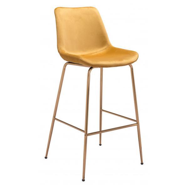 Tony Bar Chair Yellow & Gold