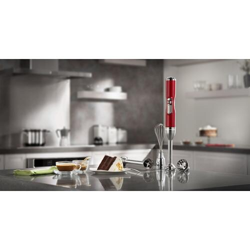Pro Line® Series 5-Speed Cordless Hand Blender Candy Apple Red