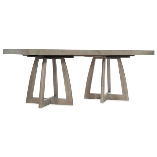Hooker Furniture - Affinity 78in Rectangle Pedestal Dining Table w/2-18in Leaves
