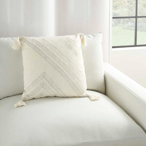 """Kathy Ireland Pillow Aa443 Ivory 20"""" X 20"""" Throw Pillow"""