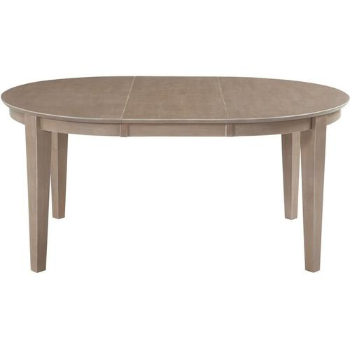 Gallery - Oval Butterfly Extension Table in Taupe Gray
