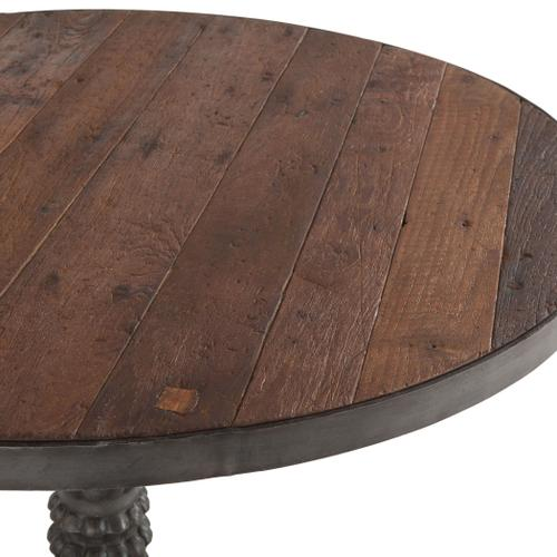"""Product Image - Industrial Teak 42"""" Reclaimed Wood Round Dining Table"""
