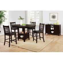 Lavon Transitional Espresso Counter-height Table WITH 4 COUNTER STOOLS