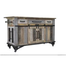 View Product - Kitchen Island 3 Drawers 6 Doors
