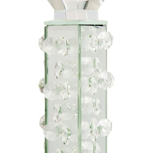 Amini - Slender Mirrored Crystal Candle Holder Small (6/pack)