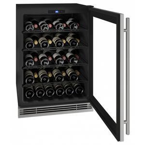 "U-LineHwc024 24"" Wine Refrigerator With Stainless Frame Finish (230v/50 Hz Volts /50 Hz Hz)"