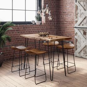See Details - Nature's Edge Counter Table W/(4) Stools