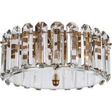 AERIN Bonnington 4 Light 18 inch Hand-Rubbed Antique Brass Flush Mount Ceiling Light, Medium