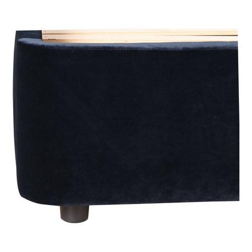 Moe's Home Collection - Samara King Bed Blue Velvet
