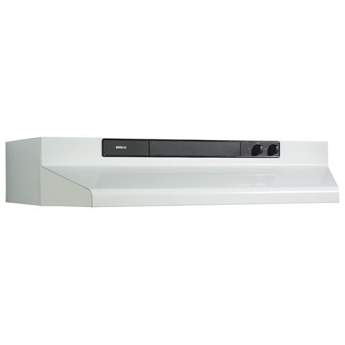 Broan® 36-Inch Convertible Under-Cabinet Range Hood, 220 CFM, White