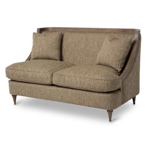 Dallas Wood Trim Loveseat