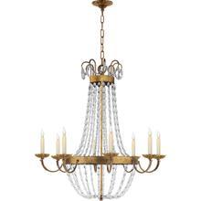 View Product - E F Chapman Paris Flea Market 8 Light 32 inch Gilded Iron Chandelier Ceiling Light