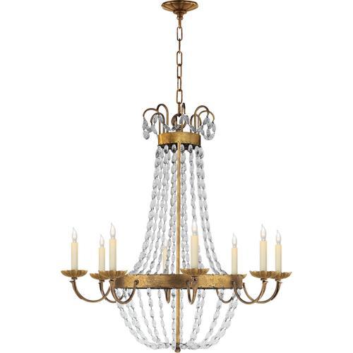 Visual Comfort - E F Chapman Paris Flea Market 8 Light 32 inch Gilded Iron Chandelier Ceiling Light