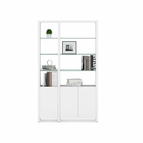 BDI Furniture - Linea Shelves 5801A Single Shelf Extension in Smooth Satin White