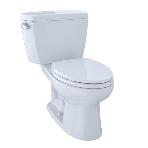 Eco Drake® Two-Piece Toilet, 1.28 GPF, Elongated Bowl - CEFIONTECT - Cotton