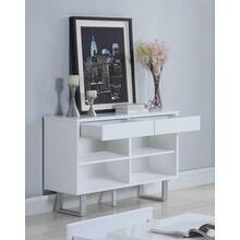 Contemporary Glossy White Sofa Table