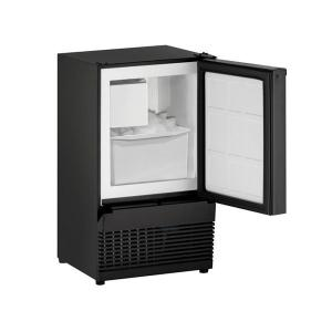 "U-LineBi95 14"" Crescent Ice Maker With Black Solid Finish (115 V/60 Hz Volts /60 Hz Hz)"