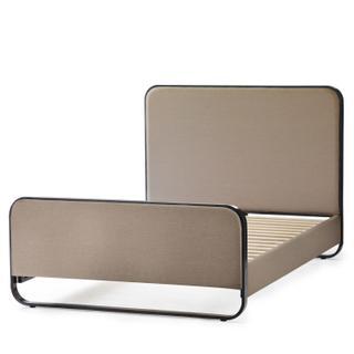 See Details - Godfrey Designer Bed - Queen Charcoal