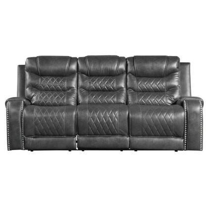 See Details - Power Double Reclining Sofa with Drop-Down Cup Holders, Receptacles and USB ports