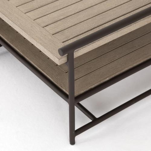 Four Hands - Washed Brown Finish Ledger Outdoor Coffee Table