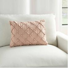 """Kathy Ireland Pillow Aa242 Blush 14"""" X 20"""" Throw Pillow"""