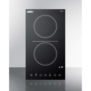 115v 2-burner Cooktop In Black Ceramic Schott Glass With Digital Touch Controls, 2400w Product Image