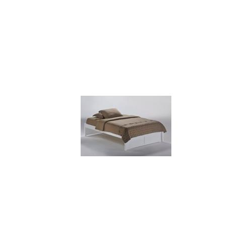 Night and Day Furniture - K-Series Basic Bed in White Finish