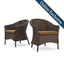 Cumberland 2pk Dining Chair w/ Dark Tan Cushion