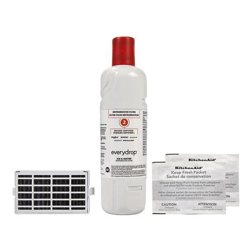 everydrop® Refrigerator Water Filter 2- EDR2RXD1 (Pack of 1) + Refrigerator FreshFlow Air Filter + FreshFlow Produce Preserver Refill
