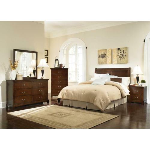 Tatiana Warm Brown Twin Five-piece Bedroom Set
