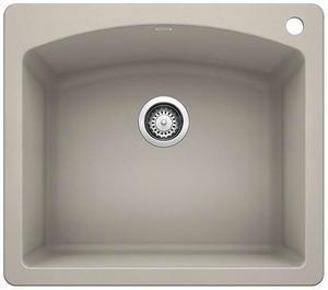 Diamond Single Bowl With Ledge - Concrete Gray Product Image